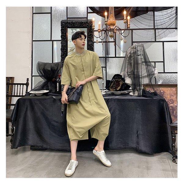 個性出したい人限定 メンズ 半袖 ジャンプスーツ ゆったり つなぎ オールインワン コンビネゾン ファッション ストリート系 カジュアル モード系 韓|bigbangfellas|14