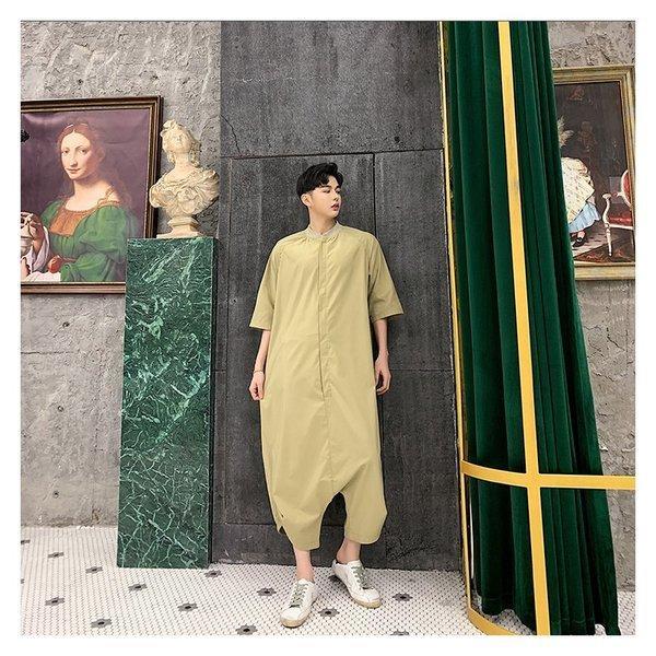 個性出したい人限定 メンズ 半袖 ジャンプスーツ ゆったり つなぎ オールインワン コンビネゾン ファッション ストリート系 カジュアル モード系 韓|bigbangfellas|16