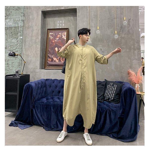 個性出したい人限定 メンズ 半袖 ジャンプスーツ ゆったり つなぎ オールインワン コンビネゾン ファッション ストリート系 カジュアル モード系 韓|bigbangfellas|17