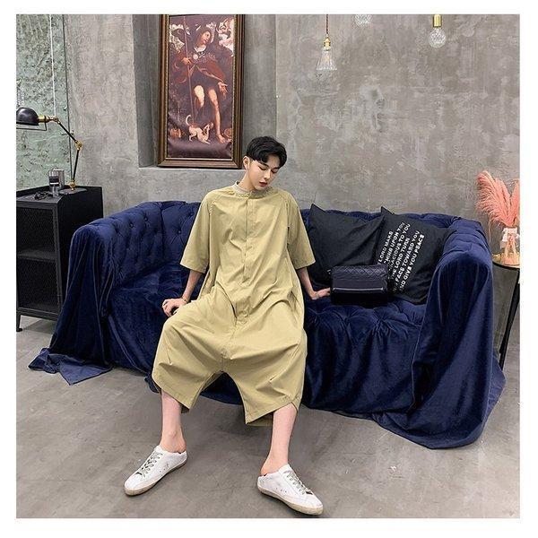 個性出したい人限定 メンズ 半袖 ジャンプスーツ ゆったり つなぎ オールインワン コンビネゾン ファッション ストリート系 カジュアル モード系 韓|bigbangfellas|18