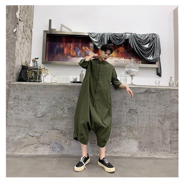 個性出したい人限定 メンズ 半袖 ジャンプスーツ ゆったり つなぎ オールインワン コンビネゾン ファッション ストリート系 カジュアル モード系 韓|bigbangfellas|06