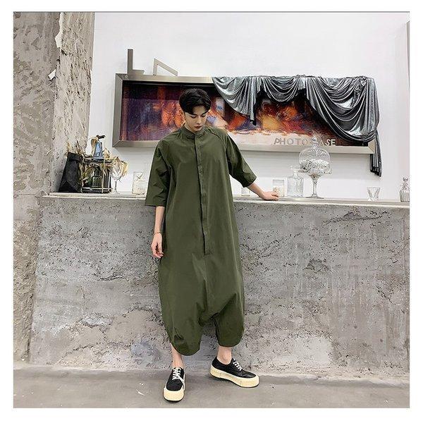 個性出したい人限定 メンズ 半袖 ジャンプスーツ ゆったり つなぎ オールインワン コンビネゾン ファッション ストリート系 カジュアル モード系 韓|bigbangfellas|07