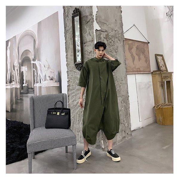 個性出したい人限定 メンズ 半袖 ジャンプスーツ ゆったり つなぎ オールインワン コンビネゾン ファッション ストリート系 カジュアル モード系 韓|bigbangfellas|09