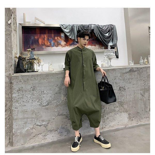 個性出したい人限定 メンズ 半袖 ジャンプスーツ ゆったり つなぎ オールインワン コンビネゾン ファッション ストリート系 カジュアル モード系 韓|bigbangfellas|10