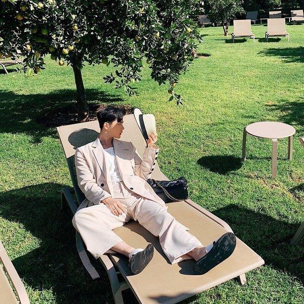コロニアルカラー デザインスーツ アイボリー デザイナーズスーツ 上下セット 2ピース 休日 都会 リゾート ホスト パーティー 結婚式 二次会 モー|bigbangfellas|02
