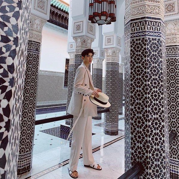コロニアルカラー デザインスーツ アイボリー デザイナーズスーツ 上下セット 2ピース 休日 都会 リゾート ホスト パーティー 結婚式 二次会 モー|bigbangfellas|13