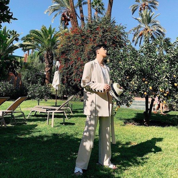コロニアルカラー デザインスーツ アイボリー デザイナーズスーツ 上下セット 2ピース 休日 都会 リゾート ホスト パーティー 結婚式 二次会 モー|bigbangfellas|05