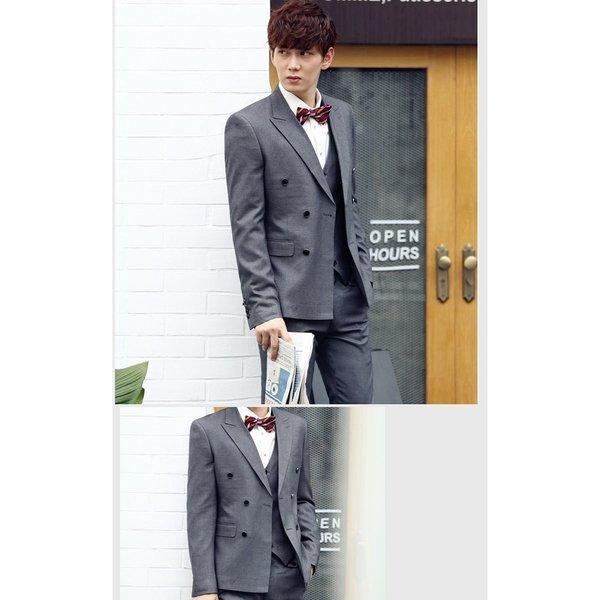 XF18 スーツ メンズ ダブル ピーススーツ スタイリッシュスーツ メンズスーツ 3点セット メンズスーツ スリム セットアップ 上下 ビジネス|bigbangfellas|03