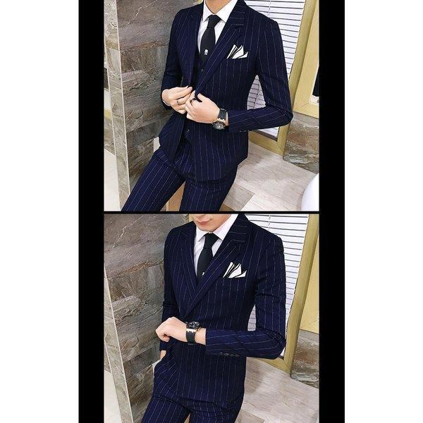w7001スーツ メンズ ダブル スリーピーススーツ スタイリッシュスーツ メンズスーツ 3点セット ベスト セットアップ 上下 スリム ビジネス bigbangfellas 04