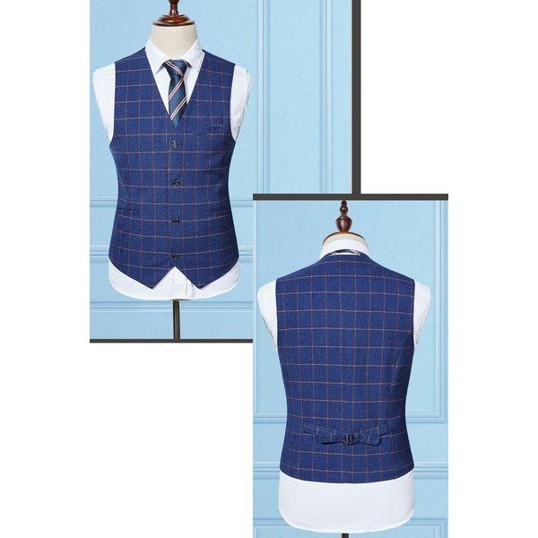 スーツ メンズ スリーピーススーツ スタイリッシュスーツ ダブル メンズスーツ 3点セット 1つボタン メンズスーツ スリム セットアップ 上下 ビ|bigbangfellas|06