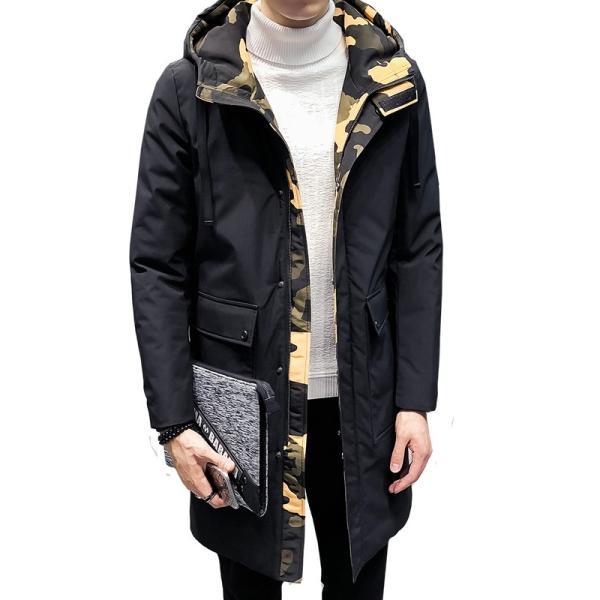 ビッグシルエット 韓国 ファッション メンズ 原宿系 韓国系メンズ 中綿コート 迷彩 ジップアップ フード付き コート メンズ メンズファッション ス|bigbangfellas|11