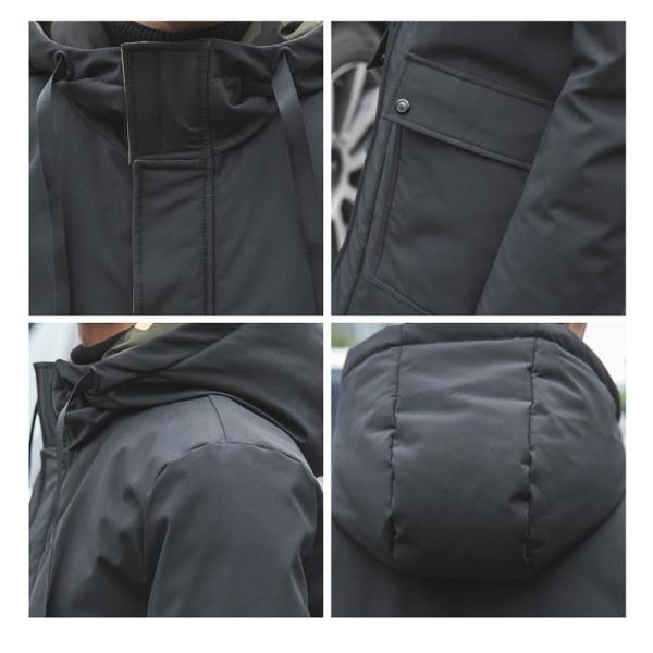 ビッグシルエット 韓国 ファッション メンズ 原宿系 韓国系メンズ 中綿コート 迷彩 ジップアップ フード付き コート メンズ メンズファッション ス|bigbangfellas|03