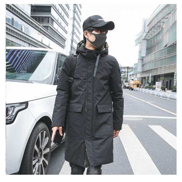 ビッグシルエット 韓国 ファッション メンズ 原宿系 韓国系メンズ 中綿コート 迷彩 ジップアップ フード付き コート メンズ メンズファッション ス|bigbangfellas|05