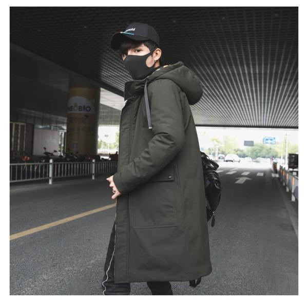 ビッグシルエット 韓国 ファッション メンズ 原宿系 韓国系メンズ 中綿コート 迷彩 ジップアップ フード付き コート メンズ メンズファッション ス|bigbangfellas|08