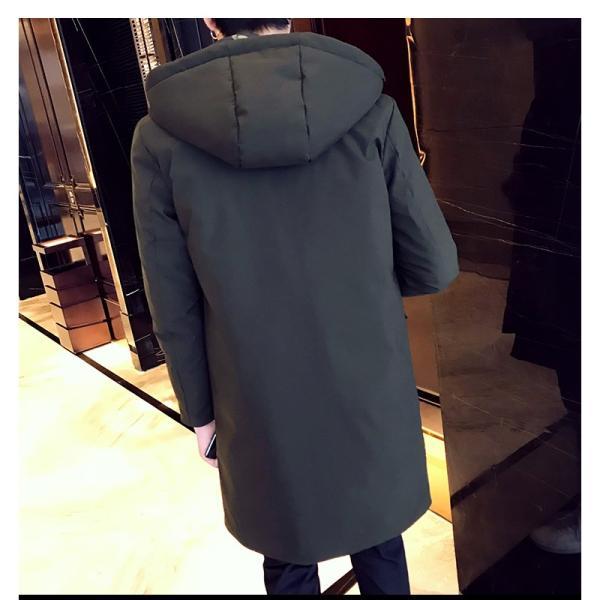 ビッグシルエット 韓国 ファッション メンズ 原宿系 韓国系メンズ 中綿コート 迷彩 ジップアップ フード付き コート メンズ メンズファッション ス|bigbangfellas|09