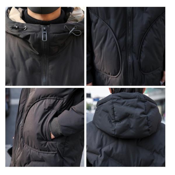 中綿コート裏側がカモ柄 迷彩 ジップアップ フード付き コート メンズ メンズファッション ストリート 韓流 韓国ファッション カジュアル 冬 秋 ジャケッ|bigbangfellas|03