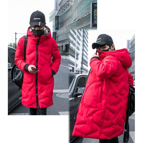 中綿コート裏側がカモ柄 迷彩 ジップアップ フード付き コート メンズ メンズファッション ストリート 韓流 韓国ファッション カジュアル 冬 秋 ジャケッ|bigbangfellas|07