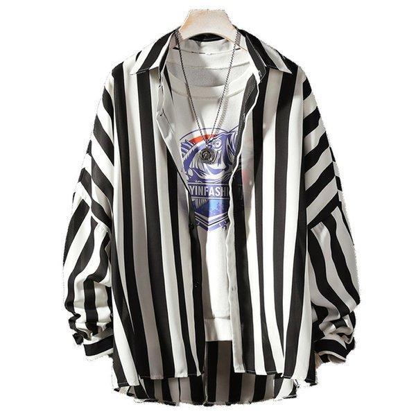 シャツ メンズ 長袖 ストライプ 柄 和柄 鶴 ボタニカル 和風 アフリカン 民族 カジュアルシャツ 韓国 ファッション 韓流 K-POP ビッグシル|bigbangfellas|20