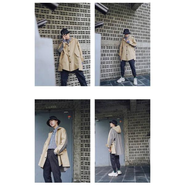 コート ジャケット チェック ビッグシルエット オーバーサイズ 大きいサイズ ロングスリーブ 長袖 メンズファッション  無地 韓流 韓国ファッション スト|bigbangfellas|06