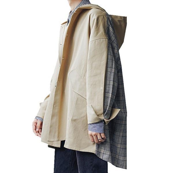 コート ジャケット チェック ビッグシルエット オーバーサイズ 大きいサイズ ロングスリーブ 長袖 メンズファッション  無地 韓流 韓国ファッション スト|bigbangfellas|10