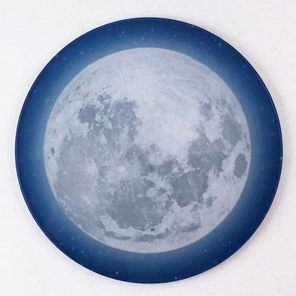 DM便送料無料 テーブルによって色味の変化が楽しめるフルムーン(満月)コースター 星空・夜空・銀河・star|bigbossshibazaki|02