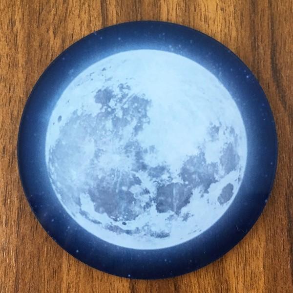 DM便送料無料 テーブルによって色味の変化が楽しめるフルムーン(満月)コースター 星空・夜空・銀河・star|bigbossshibazaki|04