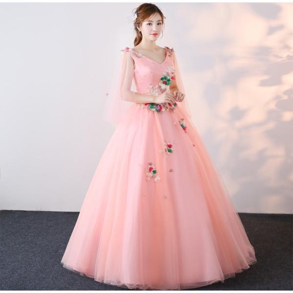 770cfdc8fad6e 高級感 ロング丈 ウェディングドレス カラードレス パーティー 二次会 ...
