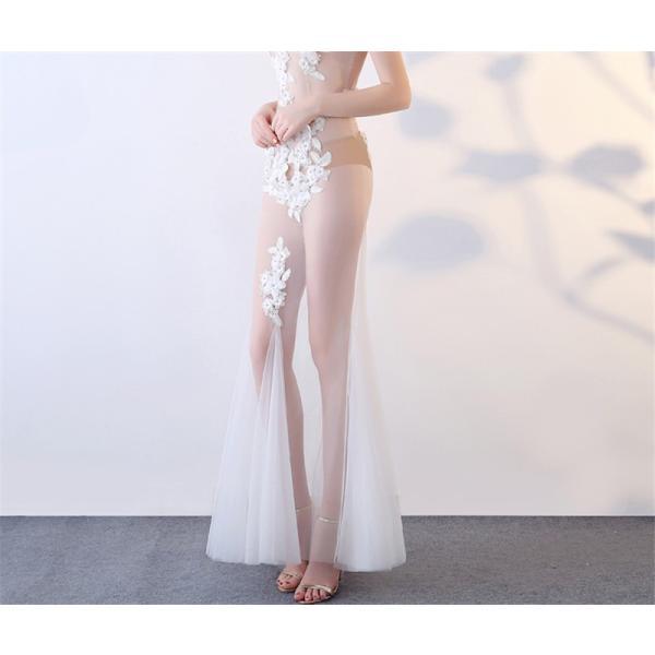 ロングドレス 演奏会ドレス パーティードレス ウェディングドレス 結婚式 二次会 花嫁ドレス 大きいサイズ カラードレス イブニングドレス お呼ばれ[ホワイト]|bigchancenet|05