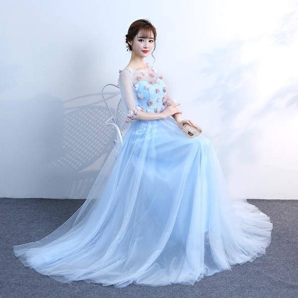72e28f1bb1179 ロングドレス ウェディングドレス パーティードレス カラードレス イブニングドレス 演奏会ドレス プリンセスライン 結婚 ...