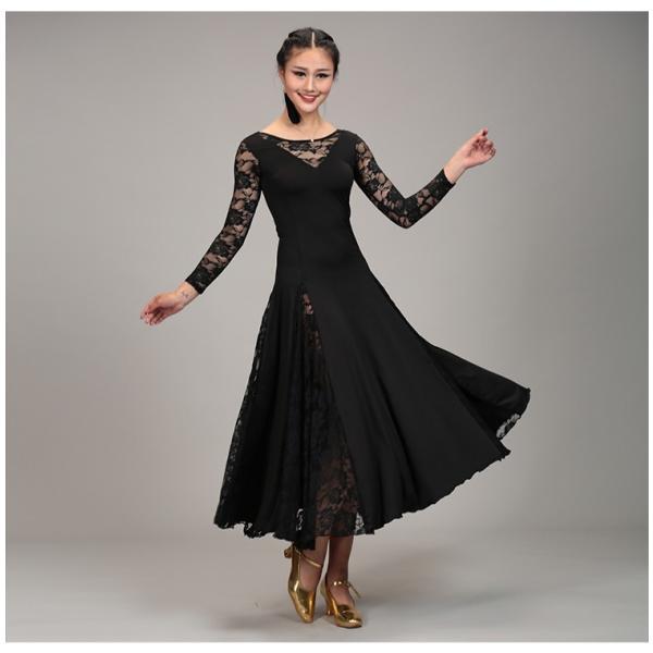 社交ダンス衣装 社交ダンスドレス モダンドレス ダンスウェア ダンスウエア 社交ダンス 練習着 社交ダンス競技用のドレス スタンダードドレス|bigchancenet|05