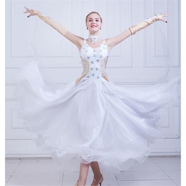 c133a2ed31b42 社交ダンス衣装 社交ダンスドレス ダンスウェア モダンドレス ダンス 衣装 ガールズ 社交ダンス競技用のドレス スタンダードドレス