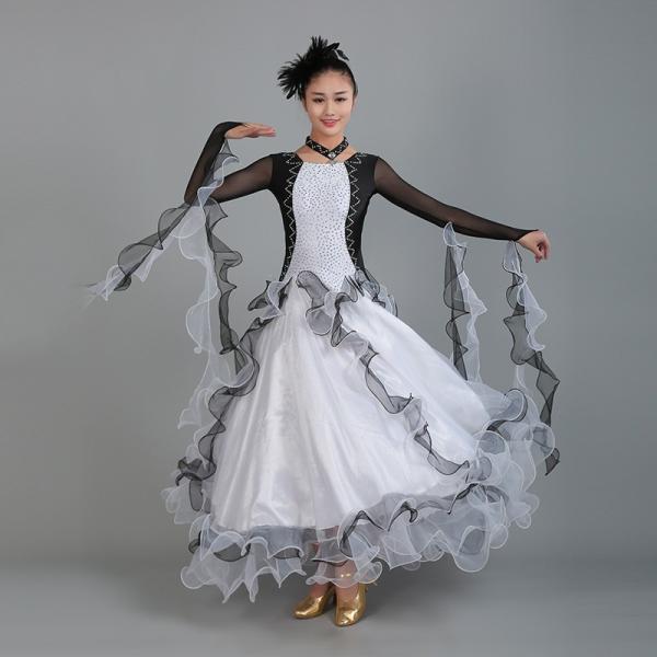 9b337e2b7b385 社交ダンス衣装 社交ダンスドレス モダンドレス ダンスウエア 競技 デモ ダンス 衣装 ガールズ 社交ダンス競技用のドレス  ワンピース