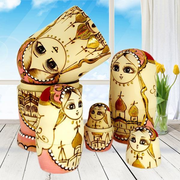 マトリョーシカ ロシア 人形 手作り お土産 動物 ぬいぐるみ ヨーロッパ ロシア土産 伝統木製 かわいい贈り物 手塗り おもちゃ ロシア民芸 家族 飾り|bigchancenet