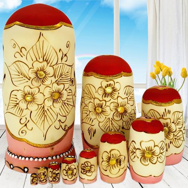 マトリョーシカ ロシア 人形 手作り お土産 動物 ぬいぐるみ ヨーロッパ ロシア土産 伝統木製 かわいい贈り物 手塗り おもちゃ ロシア民芸 家族 飾り|bigchancenet|02