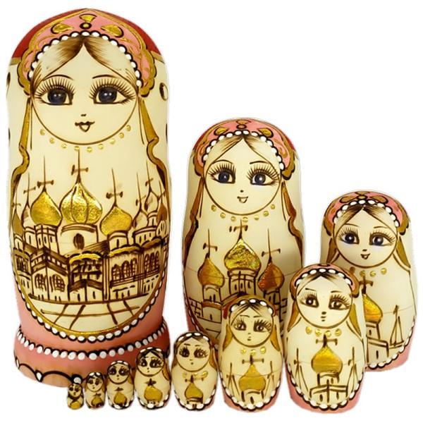 マトリョーシカ ロシア 人形 手作り お土産 動物 ぬいぐるみ ヨーロッパ ロシア土産 伝統木製 かわいい贈り物 手塗り おもちゃ ロシア民芸 家族 飾り|bigchancenet|03