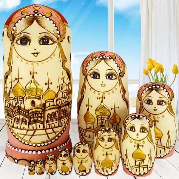 マトリョーシカ ロシア 人形 手作り お土産 動物 ぬいぐるみ ヨーロッパ ロシア土産 伝統木製 かわいい贈り物 手塗り おもちゃ ロシア民芸 家族 飾り|bigchancenet|04