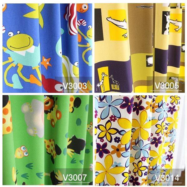 カーテン おしゃれ 安い 北欧 リーフ 花柄 かわいい オーダーカーテン ポップデザイン 幅50-100cm 丈50-135cm|bigen|04