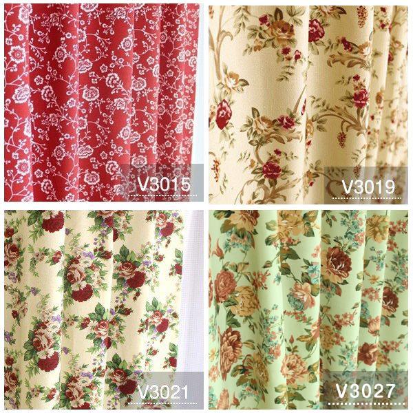 カーテン おしゃれ 安い 北欧 リーフ 花柄 かわいい オーダーカーテン ポップデザイン 幅50-100cm 丈50-135cm|bigen|05