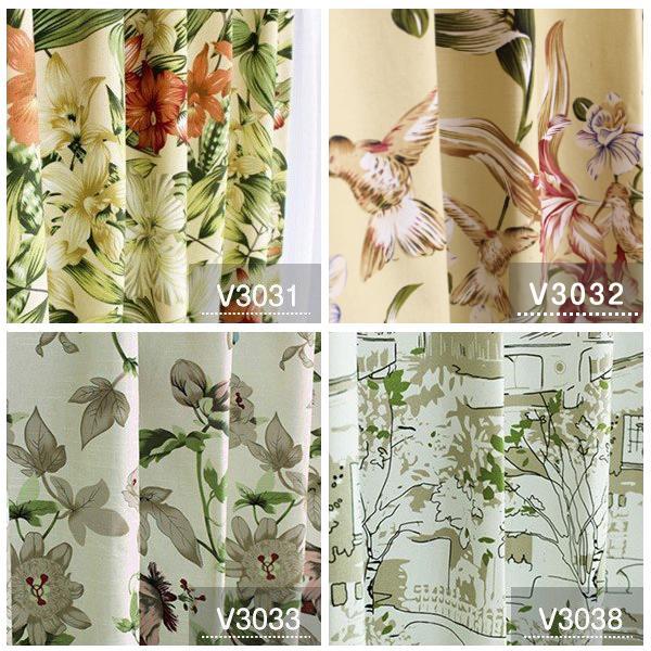 カーテン おしゃれ 安い 北欧 リーフ 花柄 かわいい オーダーカーテン ポップデザイン 幅50-100cm 丈50-135cm|bigen|06
