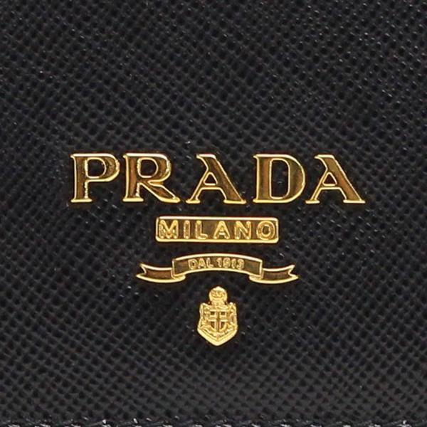 プラダ PRADA 財布 二つ折り 長財布 小銭入れ付き 1MH132 QWA F0002 NERO ブラック
