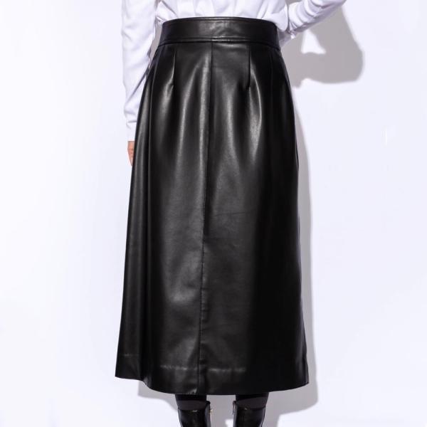 SAYAKA DAVIS サヤカ デイヴィス LSK24-SVL フェイクレザースカート  正規品ならビリエッタ。送料無料 正規品|biglietta|02