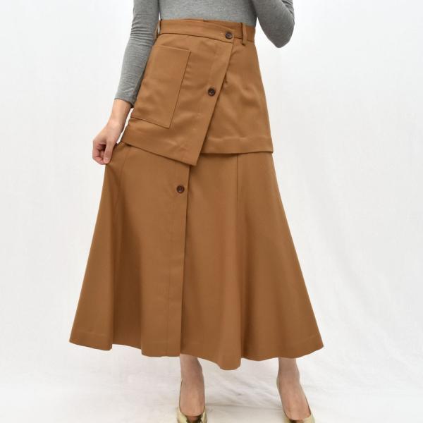 SAYAKA DAVIS サヤカ デイヴィス HSK41-WFL ウール レイヤードスカート 正規品ならビリエッタ。送料無料 SALE対象商品|biglietta