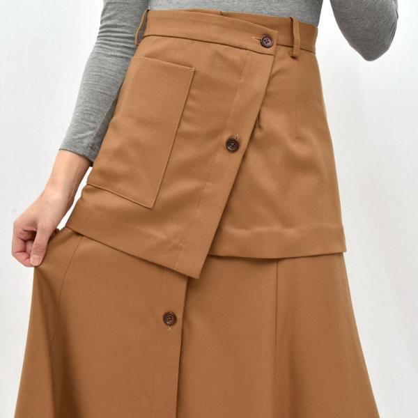 SAYAKA DAVIS サヤカ デイヴィス HSK41-WFL ウール レイヤードスカート 正規品ならビリエッタ。送料無料 SALE対象商品|biglietta|05
