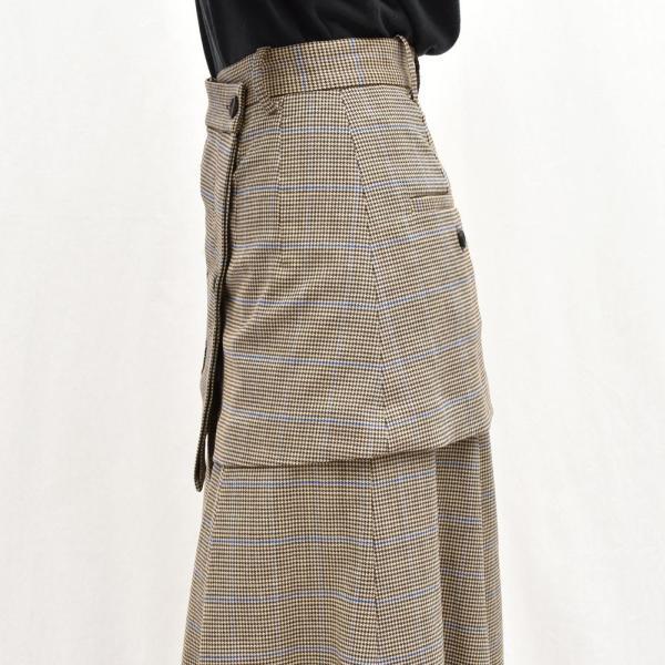 SAYAKA DAVIS サヤカ デイヴィス HSK41-CWO チェック レイヤードスカート 正規品 レディース|biglietta|06