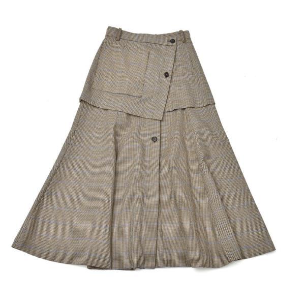 SAYAKA DAVIS サヤカ デイヴィス HSK41-CWO チェック レイヤードスカート 正規品ならビリエッタ。送料無料|biglietta|10
