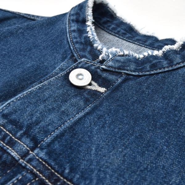 woadblue ウォードブルー ANTHRIUM WB18474 ノーカラー デニムジャケット 正規品ならビリエッタ。送料無料 SALE対象商品|biglietta|11