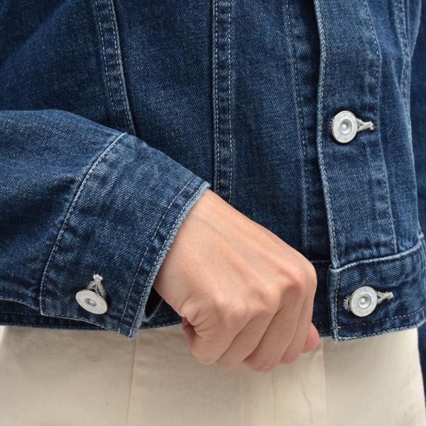 woadblue ウォードブルー ANTHRIUM WB18474 ノーカラー デニムジャケット 正規品ならビリエッタ。送料無料 SALE対象商品|biglietta|08