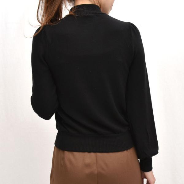 three dots スリードッツ QQ2666 ブラッシュドセーター パフスリーブクロップTシャツ 正規品ならビリエッタ。送料無料 SALE対象商品 biglietta 03