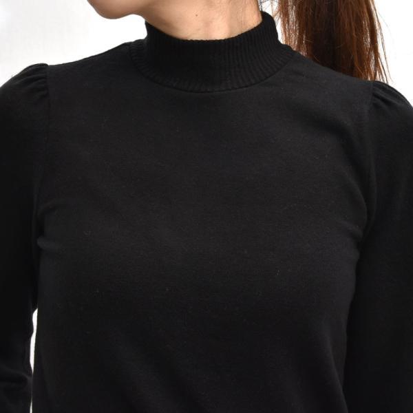 three dots スリードッツ QQ2666 ブラッシュドセーター パフスリーブクロップTシャツ 正規品ならビリエッタ。送料無料 SALE対象商品 biglietta 04