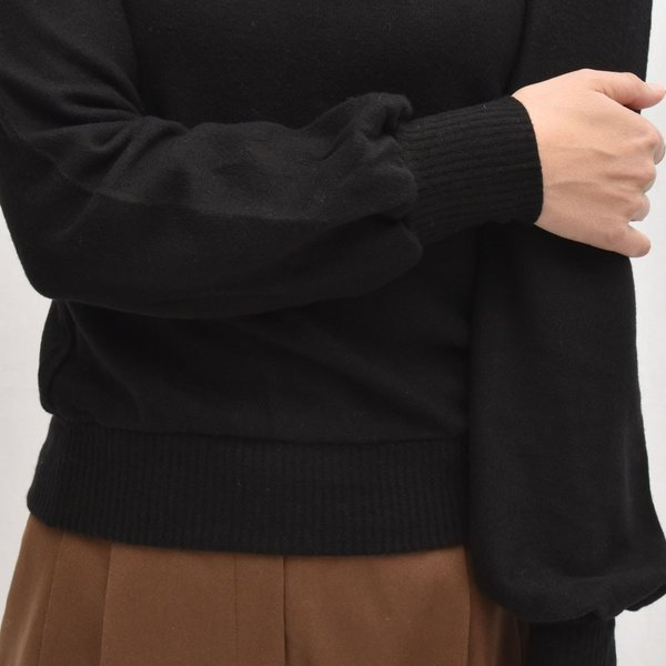 three dots スリードッツ QQ2666 ブラッシュドセーター パフスリーブクロップTシャツ 正規品ならビリエッタ。送料無料 SALE対象商品 biglietta 07